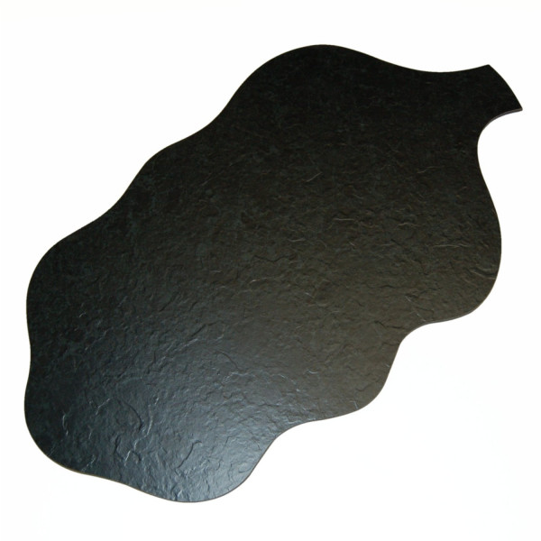 Kunstschiefertablett Blattform, 62/35,5cm, Recyclingprodukt