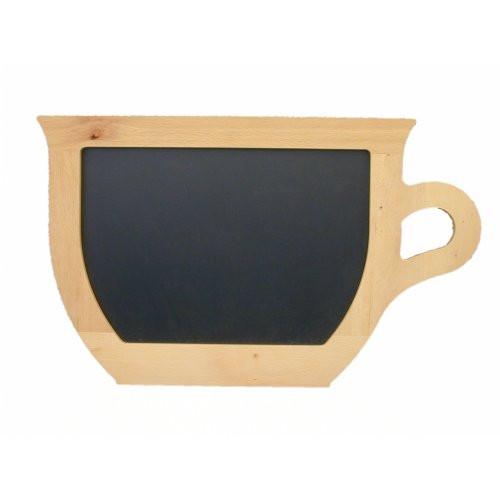 Kreidetafel-Buche-Tassenform