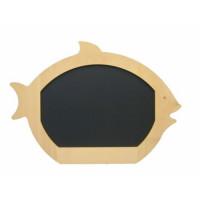 Werbetafel-Kreide-Fischform