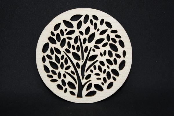 Untersetzer-Glasuntersetzer-Taschentuchbaum-Ahornholz