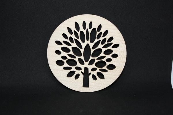 Untersetzer-Glasuntersetzer-Kerzenbaum-Ahornholz