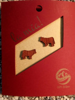 Holzschmuck-Kuh-Kirschholz