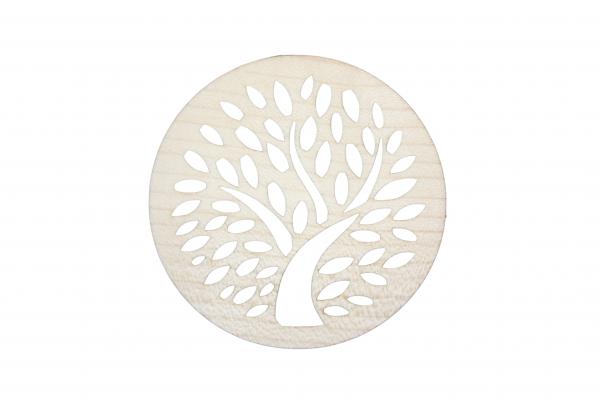 Glasuntersetzer Motiv Birnenbaum aus Holz