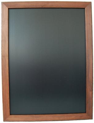 Kreidetafel-80*60cm-Holzrahmen-dunkel