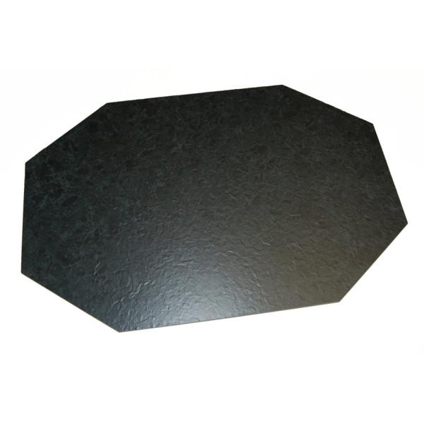 Kunstschieffer Tablett achteckig 66*44cm