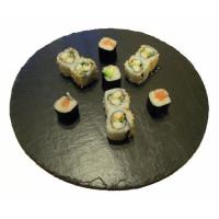 Drehplatte-Schiefer-Sushi