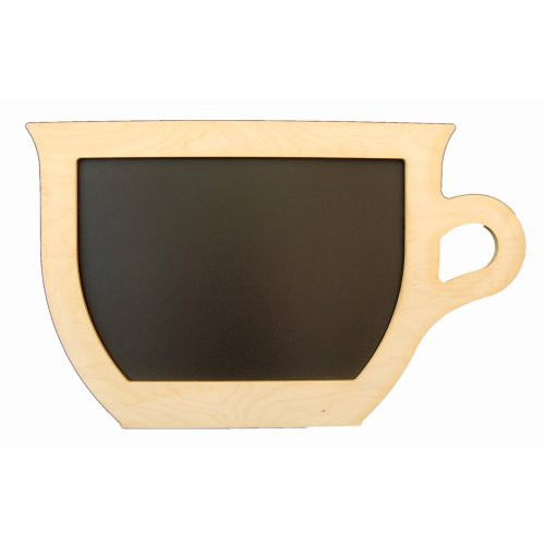 Kreidetafel-Tasse-Holzrahmen