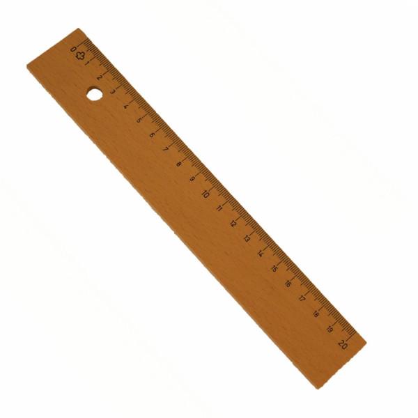 Holzlineal-20cm-Bürobedarf