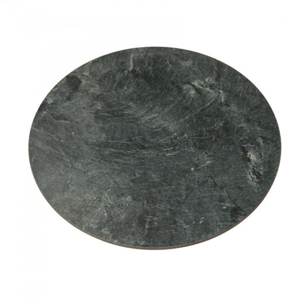 Runde recyclete Kunstschieferplatte 40cm Durchmesser