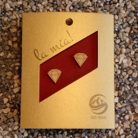 Ohrschmuck-Diamant-Ahornholz