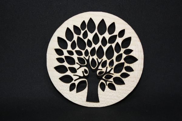 Untersetzer-Holz-Apfelbaum-Holzuntersetzer-Ahorn